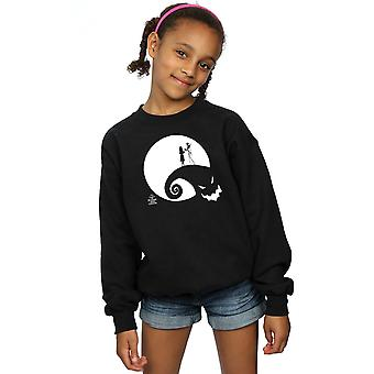 Disney Girls Nightmare Before Christmas Moon Oogie Boogie Sweatshirt