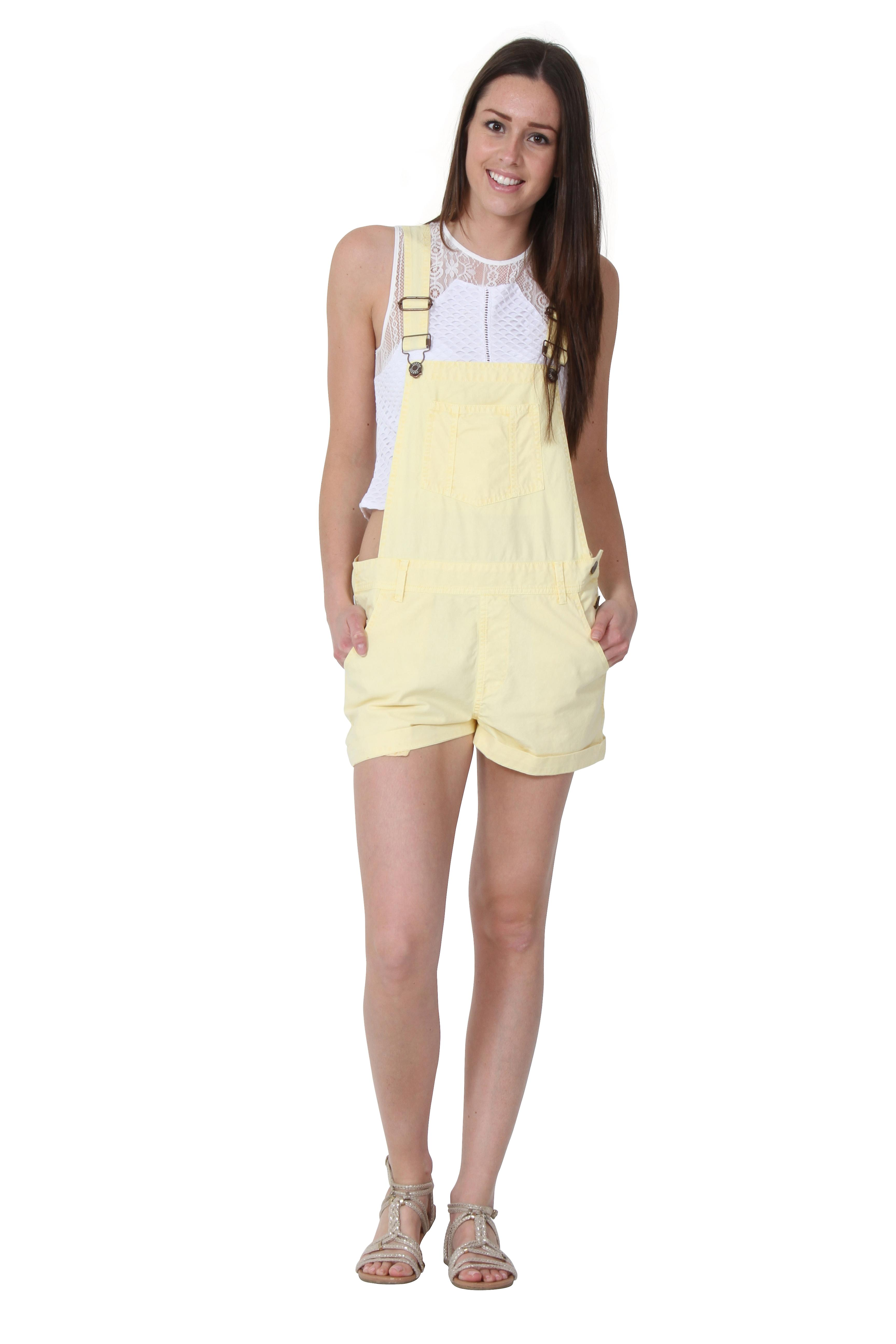 USKEES ANNA Oversized Dungaree Shorts Ladies Overalls Bib-shorts