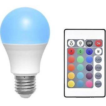 LED E27 Arbitrary 6 W RGBW (Ø x L) 60 mm x 108 mm EEC: A Basetech colour-changing, dimmable, incl. remote control 1 pc(
