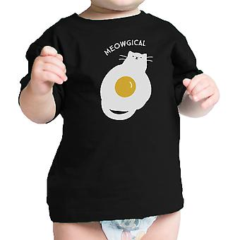 Meowgical Cat Baby Shirt Black Cotton Funny Graphic Infant Tee Gift