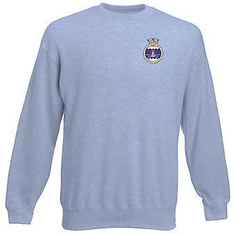 HMS Sabre geborduurd logo - officiële Royal Navy Heavyweight Sweatshirt