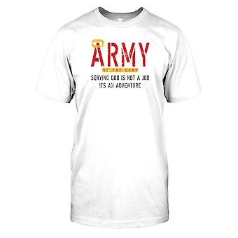 Herren T-shirt DTG Print - Army Of The Lord - Gott dienen - Religion - lustig