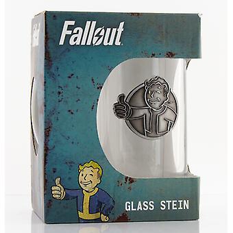 Fallout Vault Boy Stein Glass