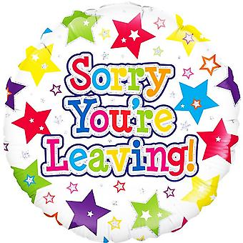 Oaktree 18 Inch Sorry Youre Leaving Circle Foil Balloon