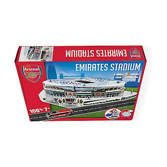 Emirates Arsenal Stadium 3D Model Jigsaw Puzzle (108 szt.)