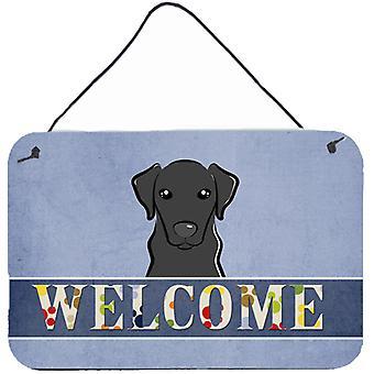 Black Labrador Welcome Wall or Door Hanging Prints