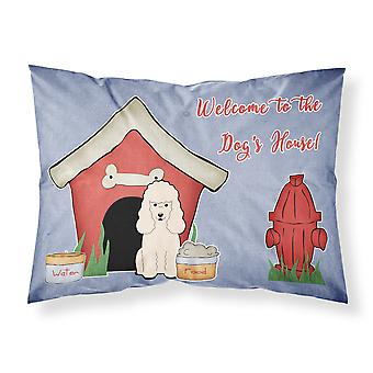 Dog House Collection Poodle White Fabric Standard Pillowcase