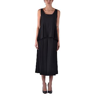 Twin set women's MCBI302211O black acetate dress