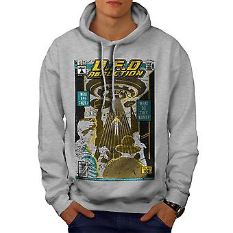 Flying Object Magazine Men GreyHoodie | Wellcoda