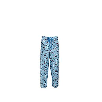 Cyberjammies 6224 Men's James Blue Motif Pajama Pant