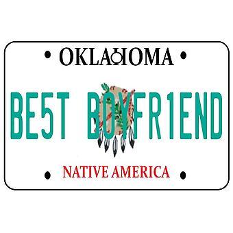 Oklahoma - bästa pojkvän registreringsskylt bil luftfräschare