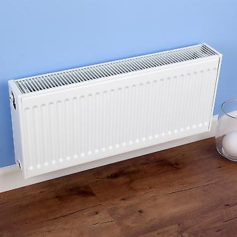 High-Low Compact Radiator - Double Type 22 - White - H300 x W900mm