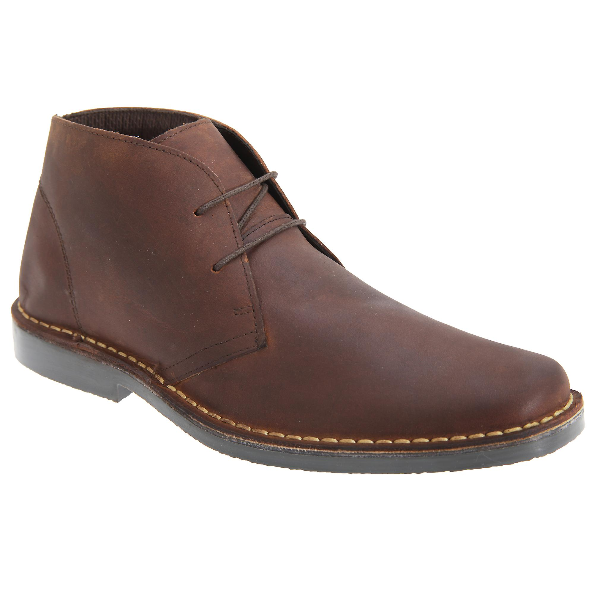 Mens Up Roamers Desert Leather Pull Boots 1wnEA
