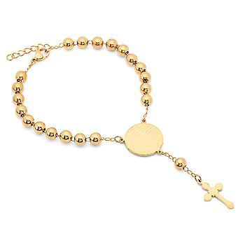 Chapado en oro de 18 K pulsera de acero inoxidable Señor oración