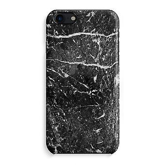 iPhone 7 Full Print Case (Glossy) - Black marble