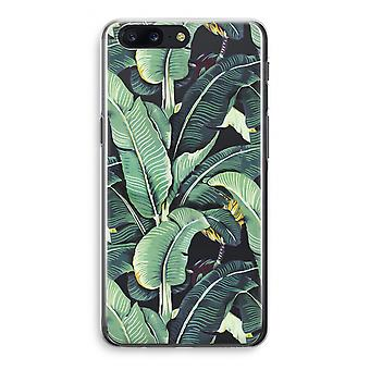 OnePlus 5 Transparant Case - Banana leaves