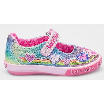 Lelli Kelly Hearts LK5072 Multi-coloured Glitter Canvas Shoes