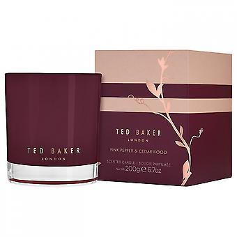 Roten Baker rosa Pfeffer und Zedernholz duftende Kerze