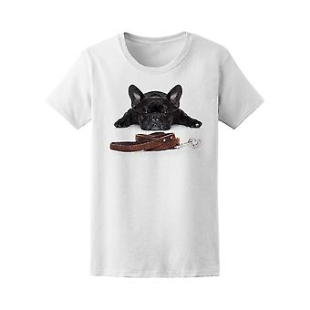 French Bulldog Dog Walk Tee Women's -Image by Shutterstock