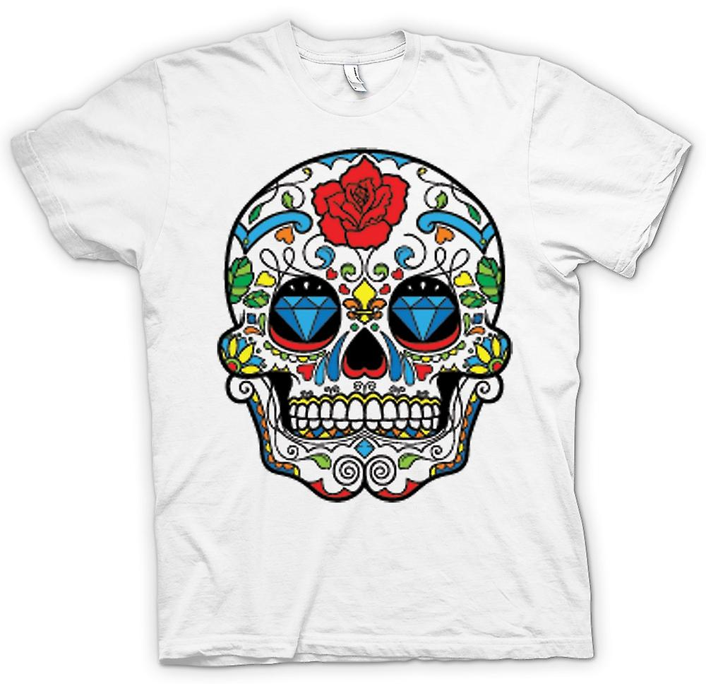 Womens T-shirt - Mexican Sugar Skull - Dia De Los Muertos