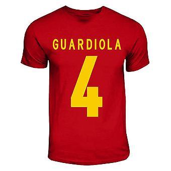 Pep Guardiola Spain Hero T-shirt (red)