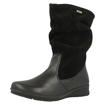 Ladies Van Dal Mid Calf Boots Heath - Black - UK Size 6.5D - EU Size 40 - US Size 8.5