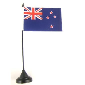 Neuseeland-Tischfahne mit Stick und Base