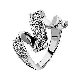 Orphelia Silver 925 Ring Twisted Pave  Zirconium   ZR-3895