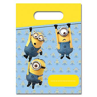 Party bags bags bag minions kids party birthday 6 pieces