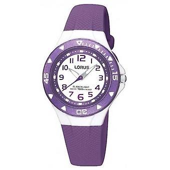 Lorus Children's Purple Rubber Strap R2337DX9 Watch
