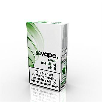 88 Vape E-Liquid Nicotine 16mg Menthol Chill 10ML