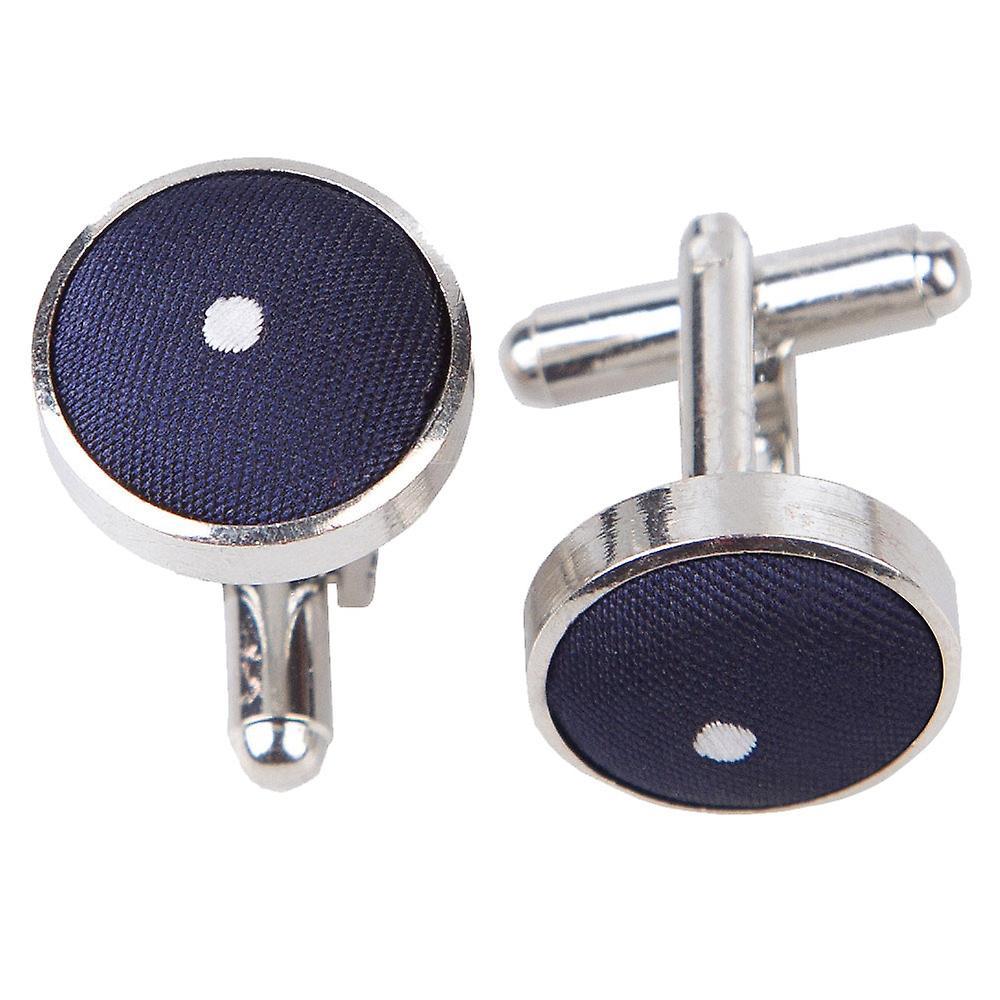Navy Blue Pin Dot Cufflinks