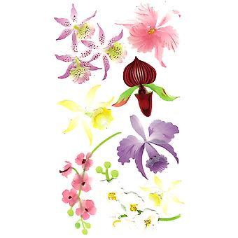 Jolee's Boutique Dimensional Stickers-Colorful Orchids