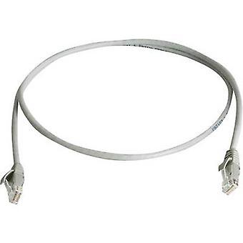 Telegärtner RJ45 Networks Cable CAT 6 U/UTP 10 m Grey Flame-retardant, Halogen-free