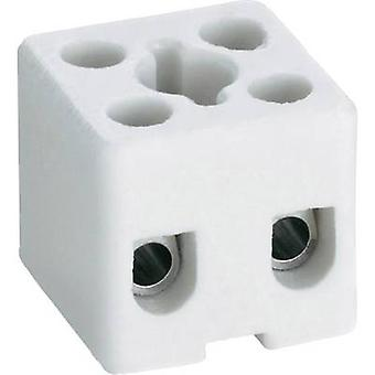 Adels-Contact 41 32 21 Ceramic connector flexible: -2.5 mm² rigid: -2.5 mm² Number of pins: 1 1 pc(s) White