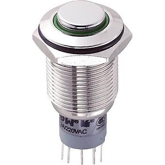 TRU COMPONENTS LAS2GQH-22ZE/G/12V/N/P Tamper-proof pushbutton 250 V AC 3 A 2 x On/On latch 1 pc(s)