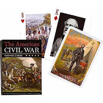 Het spel van Amerika burgeroorlog speelkaart