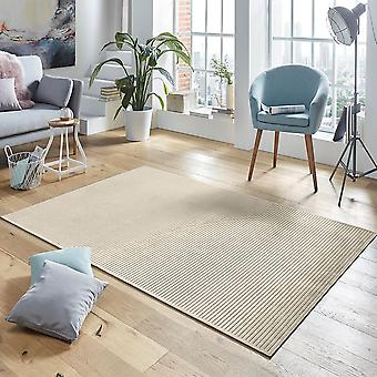 Design viscose rug Hazel in relief cream