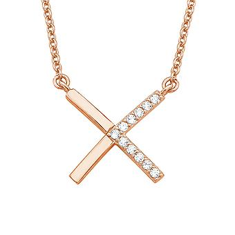 s.Oliver драгоценность дамы ожерелье серебро Rosé цирконий X 2018600