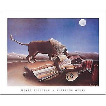 Спящая цыган c1897 плакат печати Анри Руссо (28 x 22)