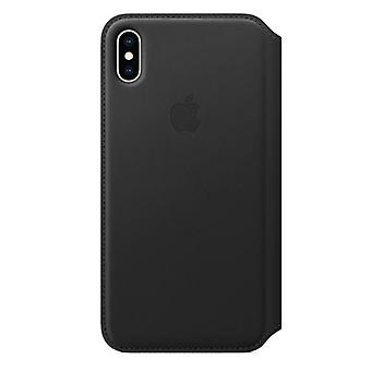 Apple iPhone XS Max leer Folio - zwart