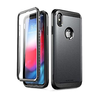 iPhone Xs Max Case, [UB Neo Series] Full-Body Protective with Built-in Screen Protector Dual Layer Cover 2018 (Black)
