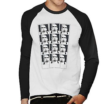 Original Stormtrooper Photo Booth Picture Strip Men's Baseball Long Sleeved T-Shirt