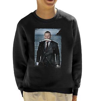 TV Times Martin Clunes Fish Doc Martin Kid's Sweatshirt