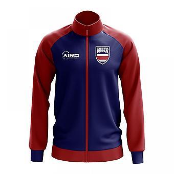 Costa Rica Concept Football Track Jacket (Blue) - Kids