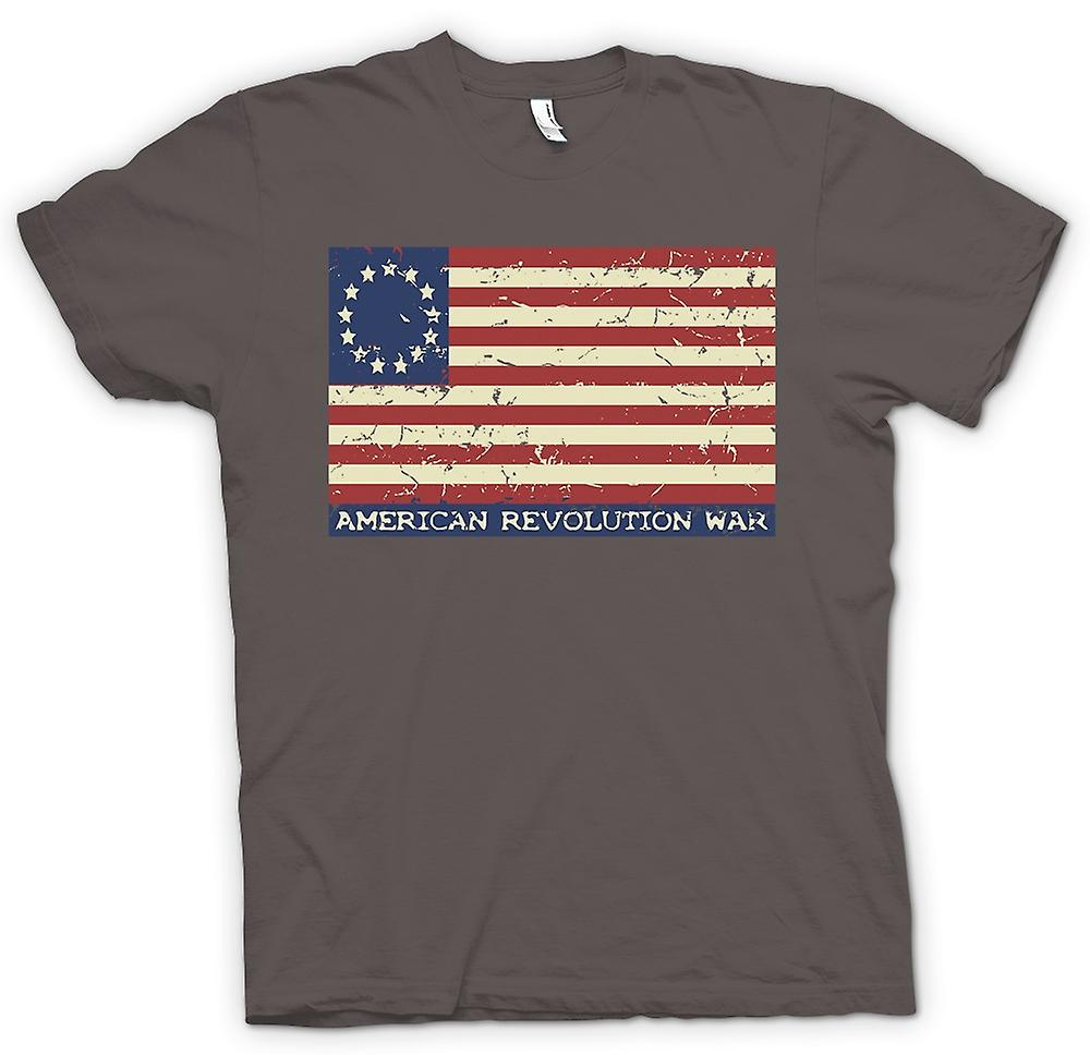 Mens T-shirt-révolution américaine Stars And Stripes