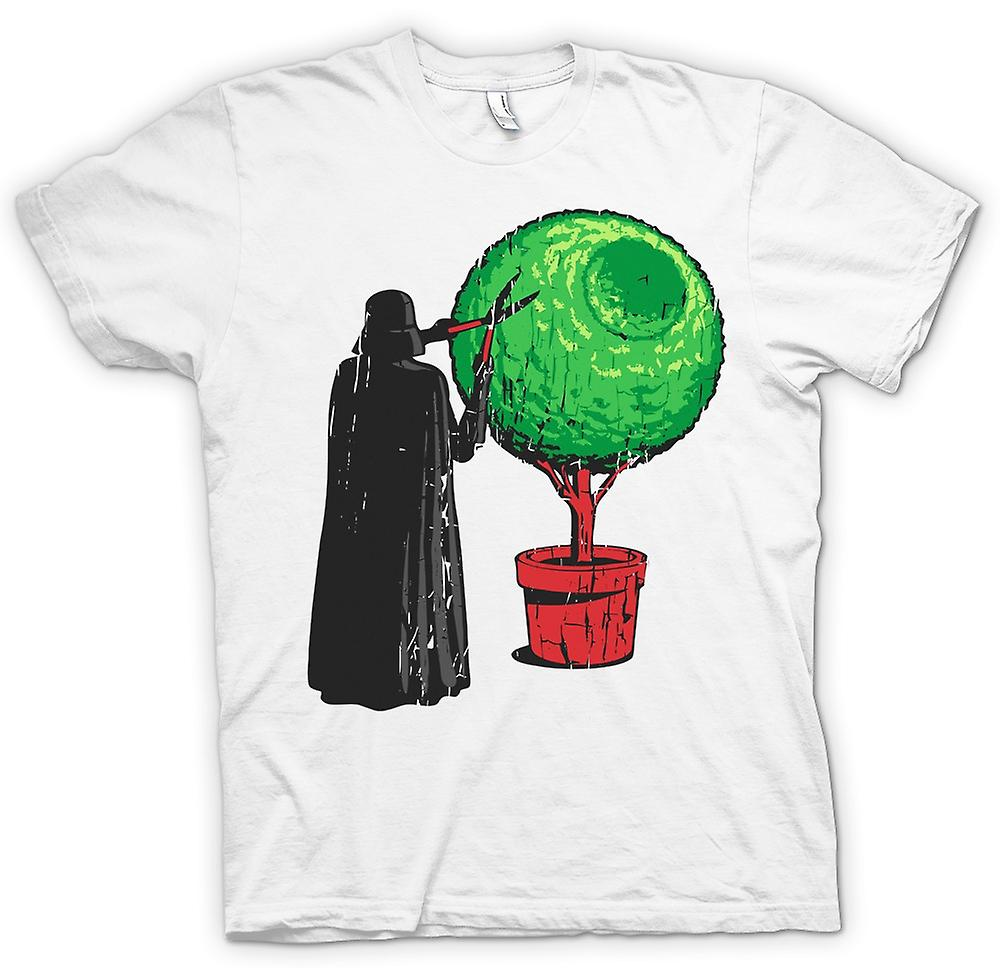 Heren T-shirt - Darth Vader trimmen van de Hedge - Deathstar