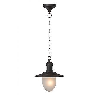 Lucide Aruba Cottage Round Metal Rust Brown Pendant Light e85399d965