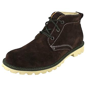Mens Rockport Casual Leather Suede Lace up Boots