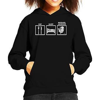 Eat Sleep Michael Jackson Kid's Hooded Sweatshirt